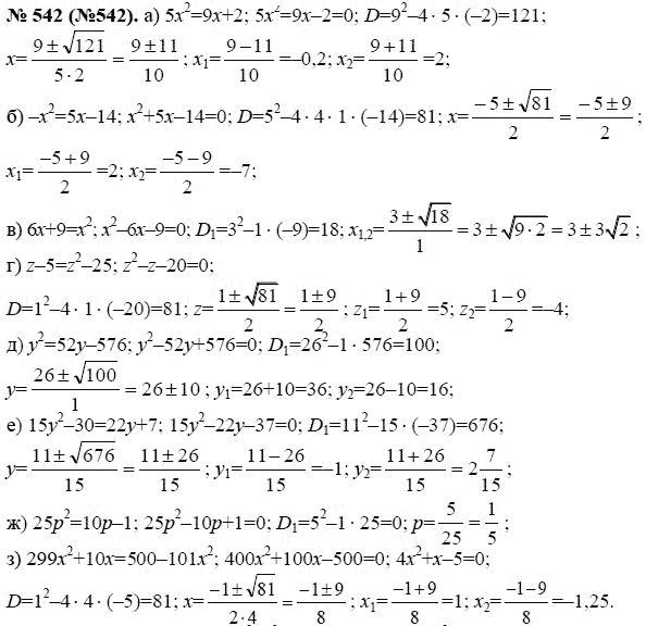 Алгебре класс 1989 гдз по теляковский 8